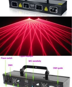 Laser Profesional 4 Capete 200 mw RED NEW!-0